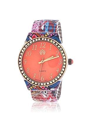 WALLFLOWER Women's WAF001M2-CAB Multi/Orange Rubber Watch