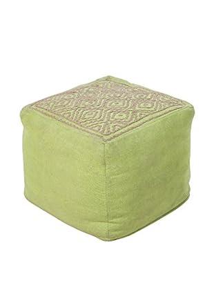 Surya Atlas Pouf, Green