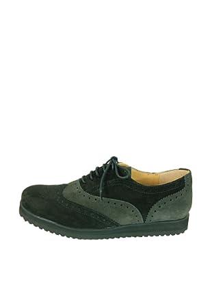 Za-patitos Zapatos Bicolor (Negro / Gris)