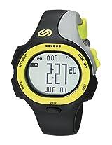 Soleus SR008 P.R. Grey Digital Dial with Black and Grey Polyurethane Strap Watch, Men's