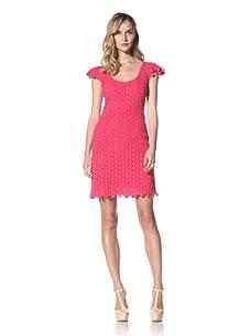 Yoana Baraschi Women's Lace Mosaic Shift Dress (Strawberry)