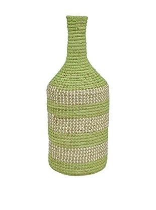 Three Hands Sea Grass Vase, Green