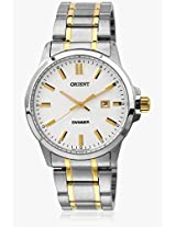 Sune5001w0 Silver/White Analog Watch Orient