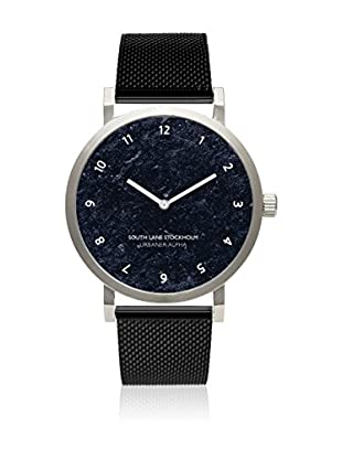 South Lane Reloj de cuarzo Unisex Urbaner Alpha Black Steel 40 mm