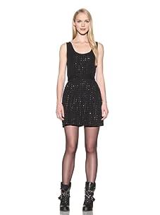 Charlotte Ronson Women's Beaded Tank Dress (Black)