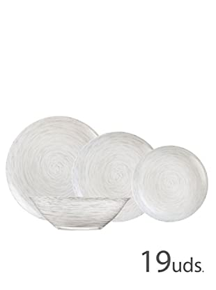 Luminarc Vajilla Redonda 19 Piezas Modelo Stonemania White