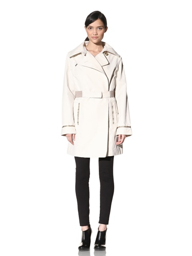 Rainforest Women's Belted Trench Coat (Ivory)