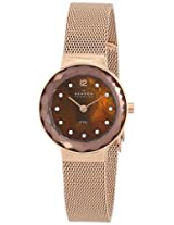 Skagen Analog Brown Dial Women's Watch - 456SRR1