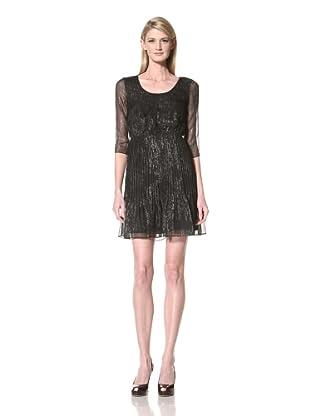 Marc New York Women's Printed Scoop Neck Dress (Black)