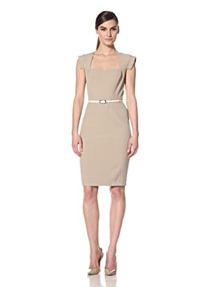 Single Women's Veronika Scoop Neck Dress (Khaki)