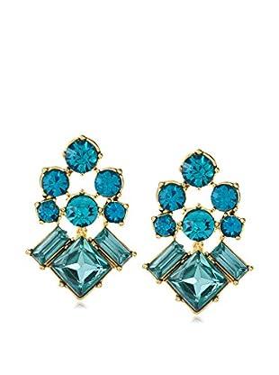 Stella & Ruby Blue Four Corner Stud Earrings