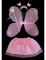 MBGiftsGalore Butterfly Wings with Skirt - Pink
