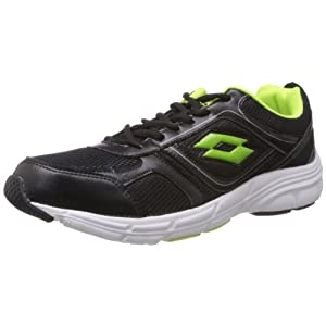 Lotto Black and Green Running Shoes