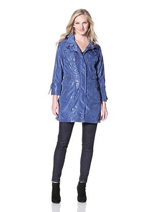 Via Spiga Women's Zip-Up Raincoat (Periwinkle)