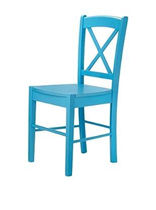 13 Casa Stuhl 2er Set Kaos D15 blau
