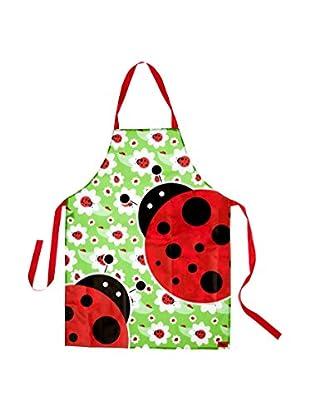 VIGAR Delantal Ladybug Verde / Rojo