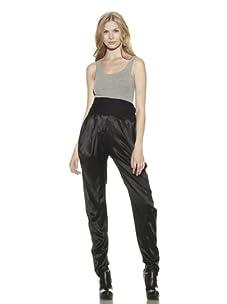 Preen Line Women's Draped Silk Pants (Black)