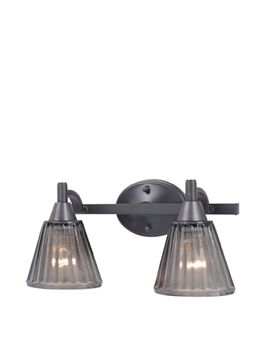 Royce Lighting Brixton Collection 2-Light Bathroom Vanity Light, Architectural Bronze