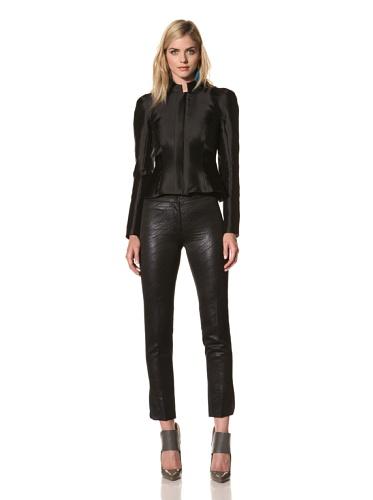 Juan Carlos Obando Women's Sculpted Shoulder Jacket (Black)