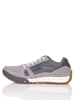 Skechers Zapatillas 51328BKGY (Gris / Azul)