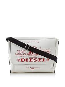 Diesel Men's Ralph Retro Flap Messenger Bag (White)
