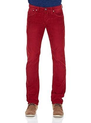 Pepe Jeans London Pantalón Cash (Rojo Oscuro)