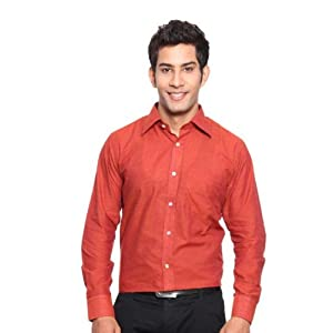 Erato Orange Men Formal Shirt EratoShirt001