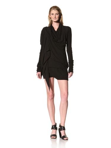 RICK OWENS Women's Drape Front Jacket (Black)