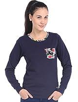 Espresso Women's Sweatshirt (ESP-6018_Navy_X-Large)