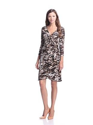 Calvin Klein Women's Printed Draped Dress (Black/Multi)
