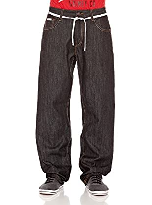 Grimey Wear Pantalón Denim Runners (Negro)