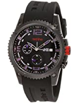 red line Men's 50031YM-BB-01BL Boost Black Dial Black Silicone Watch