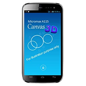 Micromax Canvas 3D A115 (Black)