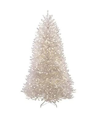 National Tree Company 7.5' Dunhill Fir White Hinged Tree