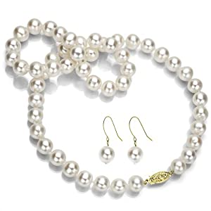 Trendy Souk Pearl Strand Necklace For Women (White)