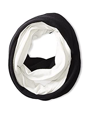 Cullen Women's Colorblock Cashmere Infinity Scarf, Black/Ivory