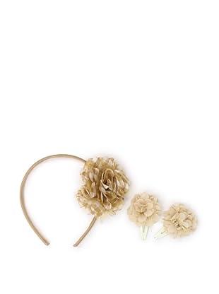 Liliella Gold Headband and Nude Hairclip Set