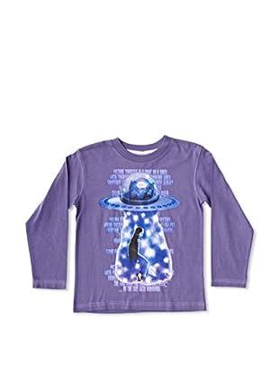 New Caro Camiseta Manga Larga Ovni Niña (Lila)