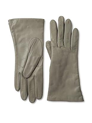 Portolano Women's Cashmere Lined Leather Gloves (Zinc Dust)