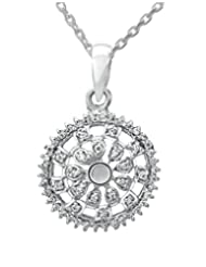 Clara Sterling Silver Swarovski Studded The Alisa Pendant For Women