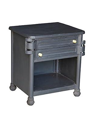 CDI Furniture Industrial Side Table, Raw Metal