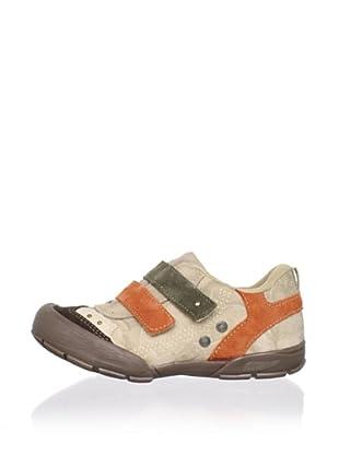 Ortopasso Kid's Hook-and-Loop Sneaker (Beige/Green/Orange)