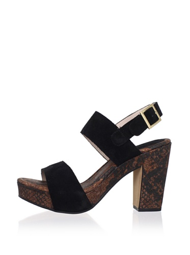 Rosegold Women's Tanya Crosta Platform Sandal (Black)