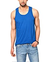 Unisopent Designs Mens Vests (Sando_Royalblue_S _Blue _Small)