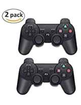 Ps3 Bluetooth Controllers, Game Otm Wireless Controllers Bluetooth For Sony Ps3 (2pk Ps3 Bluetooth Controllers Black)
