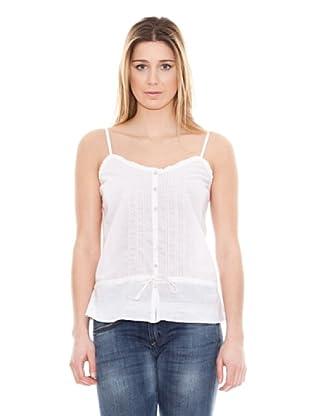 Calvin Klein Jeans Top Algodón Lino (Blanco)