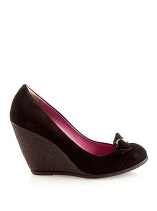 Fornarina PIFEY7611WJ00 - Zapatos de ante para mujer (Negro (Schwarz))
