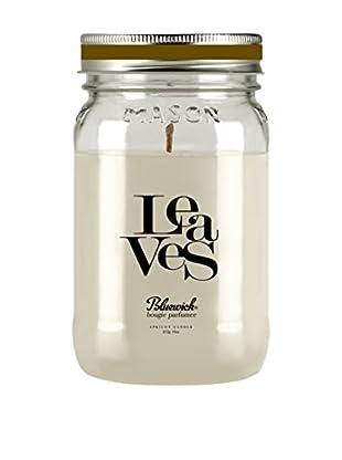 Bluewick 16-Oz. Holiday Mason Jar Candle, Leaves