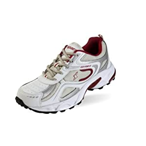 Sparx SM-171 Men's Running Shoes - White and Maroon