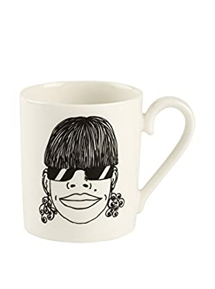 Villeroy & Boch AG Becher Little Gallery Mugs Violetta 0.25 L weiß/schwarz
